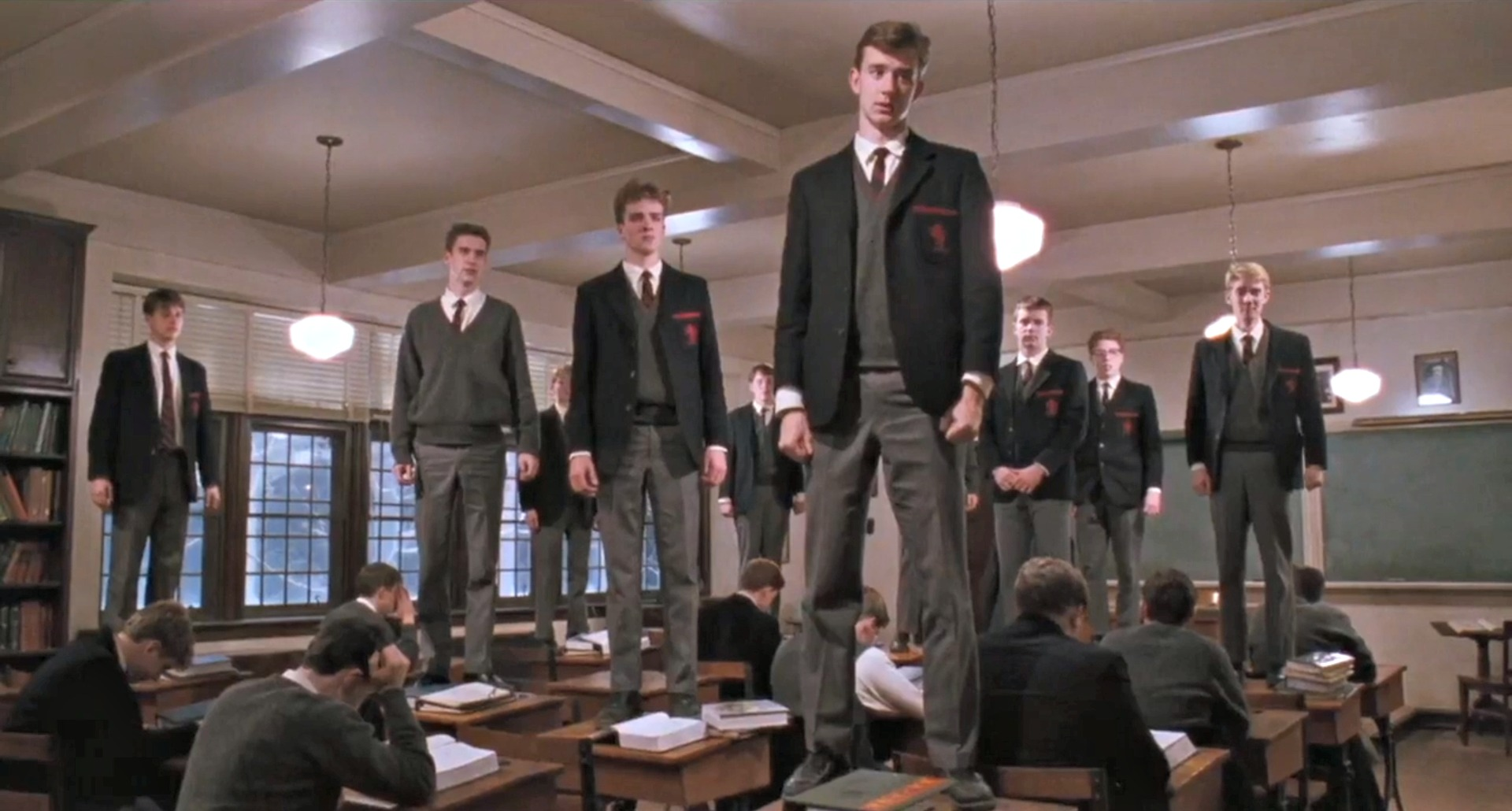 mankinds instinctive reaction to challenges in dead poets society a film by peter weir