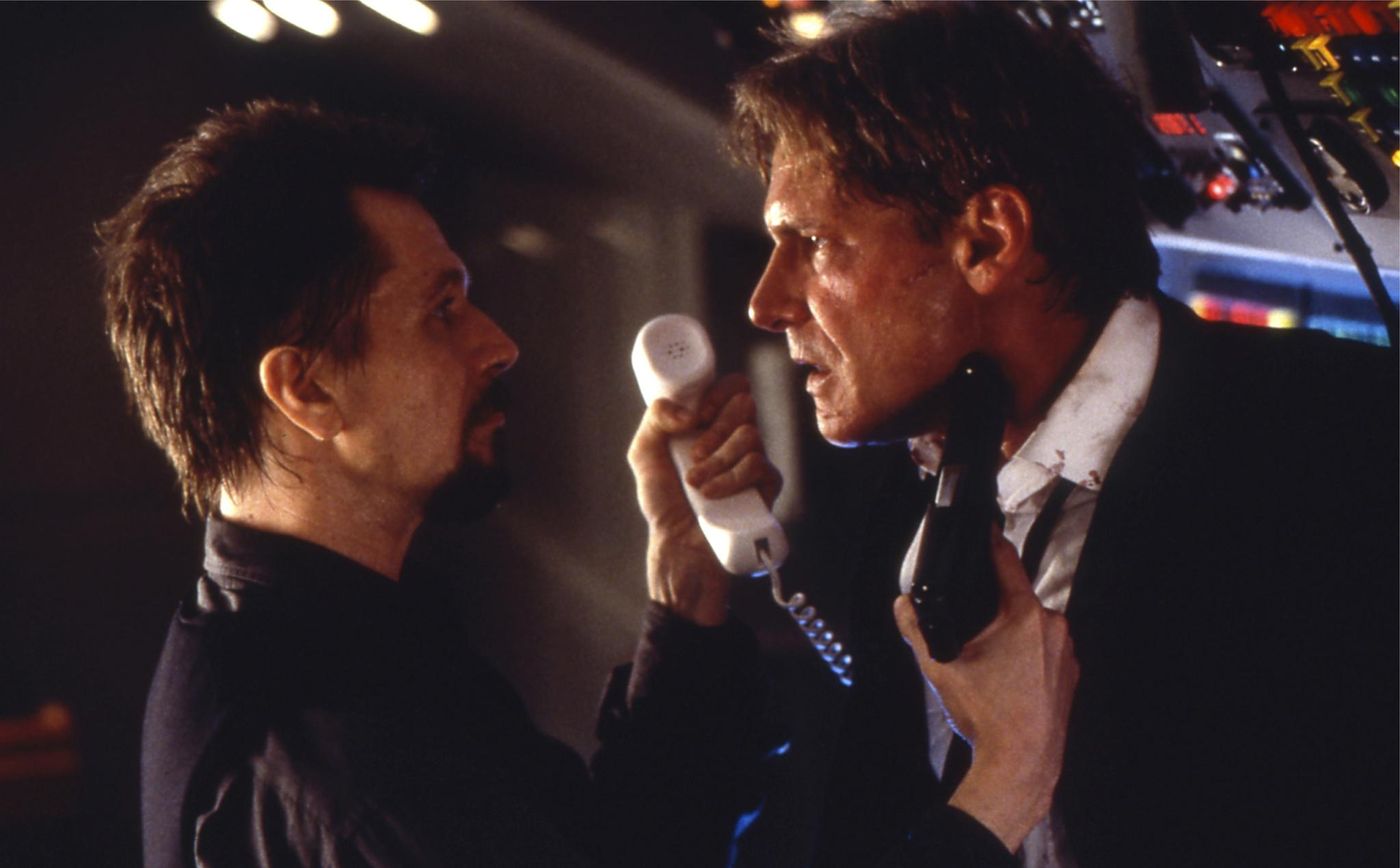 air force one movie review Harrison ford in the role as the american president in this action-loaded film the air force one, the president's private airplane, gets hi-jacked.