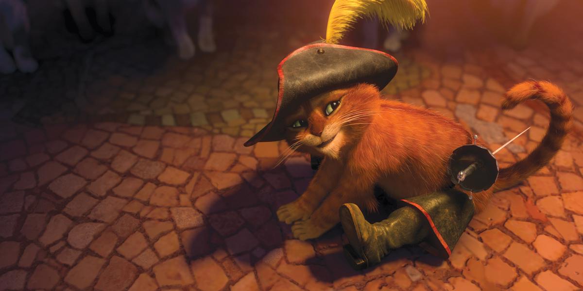 Фото кота в сапогах в шреке