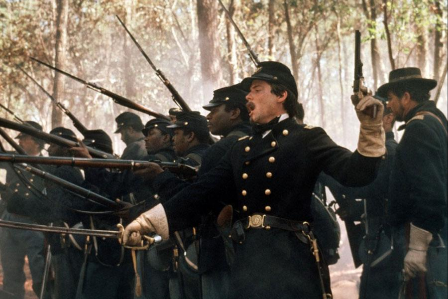 portrayal of civil war in the movie glory