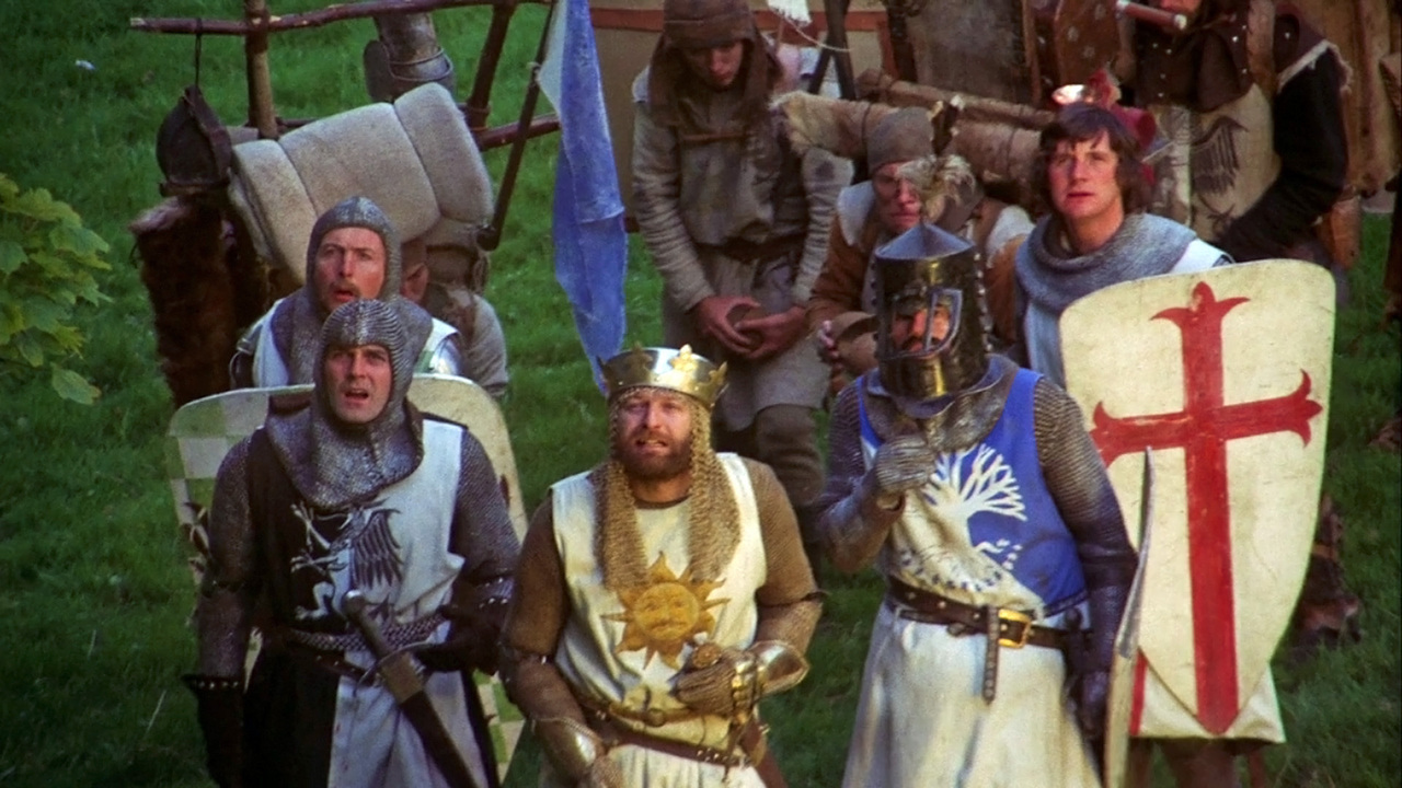 a review of the film monty python and the holy grail The movie monty python and the holy grail is the comedy troupe¿s second full length movie, following the bizarre and now for something completely different like many comedy group movies, the.